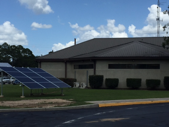 Solar Panel array located at Tri-Count Electric Cooperative Headquarters